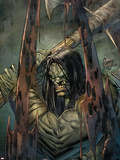 Skaar: Son Of Hulk No.4 Cover: Skaar Plastic Sign by Ron Garney