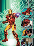 Iron Man: The End No.1 Cover: Iron Man Wall Decal by Bob Layton