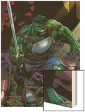 Incredible Hulks No.624: Hulk with a Sword Wood Print by Dale Eaglesham