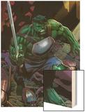 Incredible Hulks No.624: Hulk with a Sword Wood Print by Dale Eaglesham