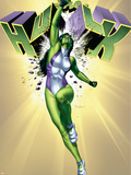 She-Hulk No.6 Cover: She-Hulk Plastic Sign by Adi Granov