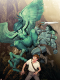 Incredible Hulk No.604 Cover: Banner, Bruce and Skaar Plastikskilte af Ariel Olivetti