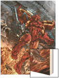 Iron Man: House Of M No.1 Cover: Iron Man Wood Print by Pat Lee