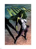 She-Hulk No.29 Cover: She-Hulk Plastic Sign by Mike Deodato