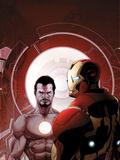 Invincible Iron Man No.503 Cover: Iron Man and Tony Stark Plastic Sign by Salvador Larroca