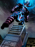 Fantastic Four No.584: Galactus Flying Plastic Sign by Steve Epting