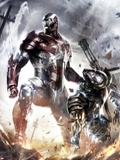 War Machine No.10 Cover: Iron Patriot and War Machine Plastic Sign