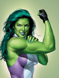 She-Hulk No.9 Cover: She-Hulk Plastic Sign by Mike Mayhew