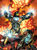 Ultimate Comics Armor Wars No.2 Cover: Iron Man, Hammer and Justine Plastic Sign by Brandon Peterson