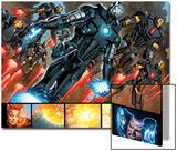 Iron Man 20 Figure: War Machine, Iron Man Prints by Joe Bennett