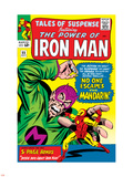 Tales Of Suspense No.55 Cover: Iron Man and Mandarin Fighting Plastic Sign by Don Heck
