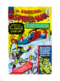 Amazing Spider-Man No.14 Cover: Spider-Man, Green Goblin and Hulk Wall Decal by Steve Ditko