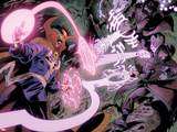 Iron Man Legacy No.11: Dr. Strange Fighting with Energy Plastic Sign by Juan Doe