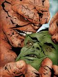 Hulk & Thing: Hard Knocks No.2 Cover: Hulk and Thing Swinging Plastic Sign by Jae Lee
