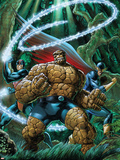 The Thing No.2 Cover: Thing, Nighthawk and Constrictor Plastic Sign by Andrea Di Vito
