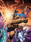 Fantastic Four No.572 Cover: Thing, Invisible Woman, Mr. Fantastic and Human Torch Plastic Sign by Alan Davis