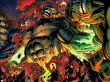 Incredible Hulks No.618: Abomination Fighting Plastic Sign by Paul Pelletier