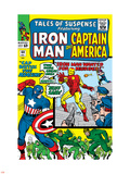 Tales Of Suspense No.60 Cover: Iron Man, Captain America, Hawkeye and Assasin Fighting Plastic Sign by Don Heck