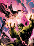 Incredible Hulks No.619 Cover: Hulk and Dr. Strange Fighting Plastic Sign by Carlo Pagulayan