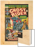 Marvel Spotlight No.5 Cover: Ghost Rider Wood Print by Mike Ploog