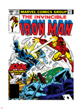 Marvel Comics Retro: The Invincible Iron Man Comic Book Cover No.124, Action in Atlantic City Plastic Sign