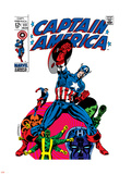 Marvel Comics Retro: Captain America Comic Book Cover No.111, with Hydra and Bucky Plastic Sign