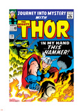 Marvel Comics Retro: The Mighty Thor Comic Book Cover No.120, Journey into Mystery; This Hammer Plastic Sign