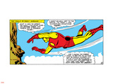 Marvel Comics Retro: The Invincible Iron Man Comic Panel, Flying Plastic Sign