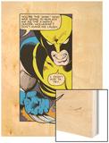 Marvel Comics Retro: X-Men Comic Panel, Wolverine Wood Print