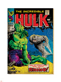 Marvel Comics Retro: The Incredible Hulk Comic Book Cover No.104, with the Rhino (aged) Plastic Sign