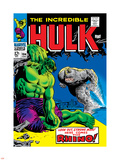 Marvel Comics Retro: The Incredible Hulk Comic Book Cover No.104, with the Rhino Plastic Sign