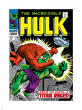 Marvel Comics Retro: The Incredible Hulk Comic Book Cover No.106, Titan Rages Plastic Sign