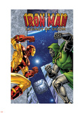Iron Man: Legacy Of Doom No.1 Cover: Iron Man and Dr. Doom Plastic Sign by Ron Lim