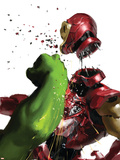The Invincible Iron Man 19 Cover: Hulk and Iron Man Plastic Sign
