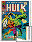 Marvel Comics Retro: The Incredible Hulk Comic Book Cover No.103, with the Space Parasite (aged) Prints