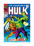 Marvel Comics Retro: The Incredible Hulk Comic Book Cover No.103, with the Space Parasite Plastic Sign