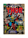 Marvel Comics Retro: The Mighty Thor Comic Book Cover No.123, Mystery with Absorbing Man, Odin Plastic Sign