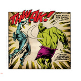 Marvel Comics Retro: The Incredible Hulk Comic Panel, Fighting, Thwak! (aged) Wall Decal