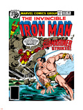 Marvel Comics Retro: The Invincible Iron Man Comic Book Cover No.120; The Sub-Mariner Strikes Wall Decal