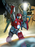 Ultimate Iron Man II No.5 Cover: Iron Man Plastic Sign by Pasqual Ferry