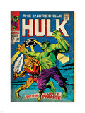 Marvel Comics Retro: The Incredible Hulk Comic Book Cover No.103, with the Space Parasite (aged) Plastic Sign