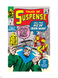 Tales of Suspense No.48 Cover: Iron Man and Mister Doll Plastic Sign by Jack Kirby