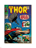Marvel Comics Retro: The Mighty Thor Comic Book Cover No.141, Who is Replicus (aged) Plastic Sign