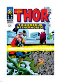 Marvel Comics Retro: The Mighty Thor Comic Book Cover No.130, Thunder in the Netherworld, Hercules Plastic Sign