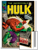 Marvel Comics Retro: The Incredible Hulk Comic Book Cover No.106, Titan Rages (aged) Prints