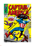 Marvel Comics Retro: Captain America Comic Book Cover No.105, Batroc Plastic Sign