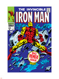 The Invincible Iron Man No.1 Cover: Iron Man Plastic Sign by Gene Colan