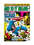 Marvel Comics Retro: Captain America Comic Panel, And So It Begins..! Plastic Sign