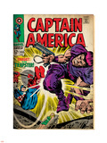 Marvel Comics Retro: Captain America Comic Book Cover No.108, the Trapster (aged) Plastic Sign