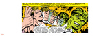 Marvel Comics Retro: The Incredible Hulk Comic Panel, Bruce Banner Transforming Wall Decal